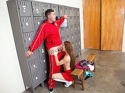 Whorish Spraying Cheerleader