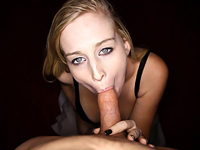 Light-haired Teenager Enjoys Peen