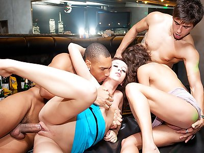 Naughty soiree porno with fully badass women