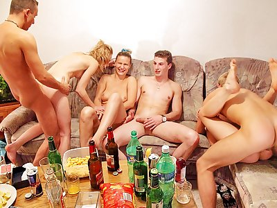Xxx gang banging at ultra-kinky orgy soiree