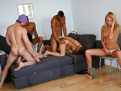 Cock-hungry school women have a geyser
