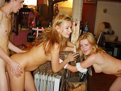 Super-naughty women and dudes pulverize in a night club