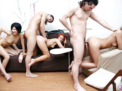 Real school hump with shameless magnificent gals