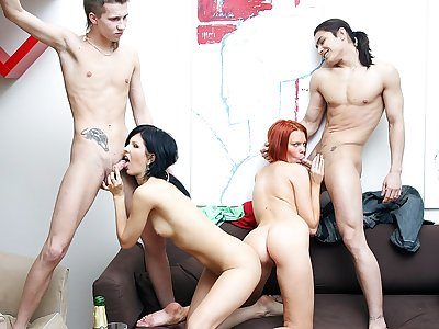 Extraordinaire soiree intercourse sequence with a kinky sandy-haired