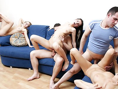 Badass school girls toss a naughty romp soiree