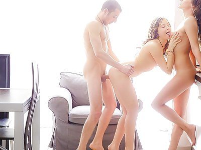 Liza, Stephany in threeway practice