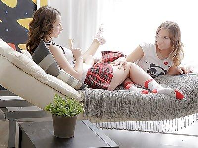 Juliya, Parvin in one salami and 2 girls